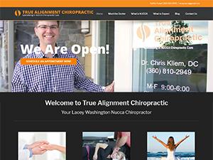 True Alignment Chiropractic, NUCCA chiropractor in Lacey WA