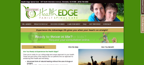website example Health Edge