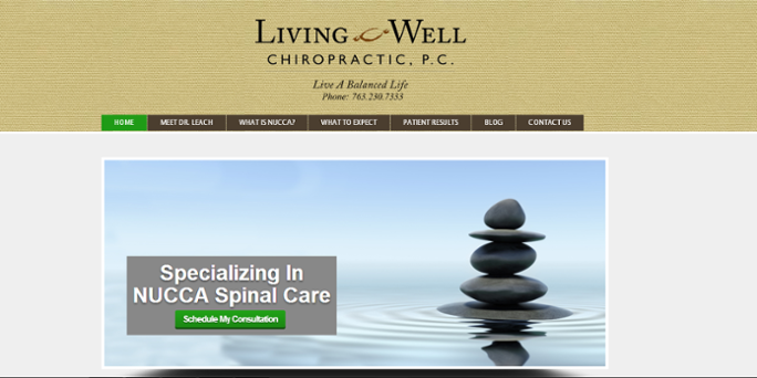 website example Living Well