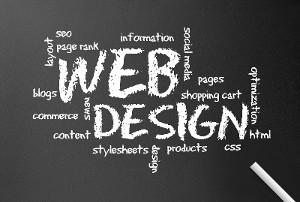 Web design chalkboard