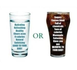 health Tip water versus soda