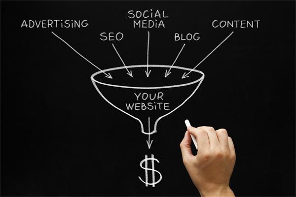 website marketing concept