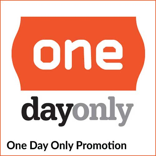 One day only promotion
