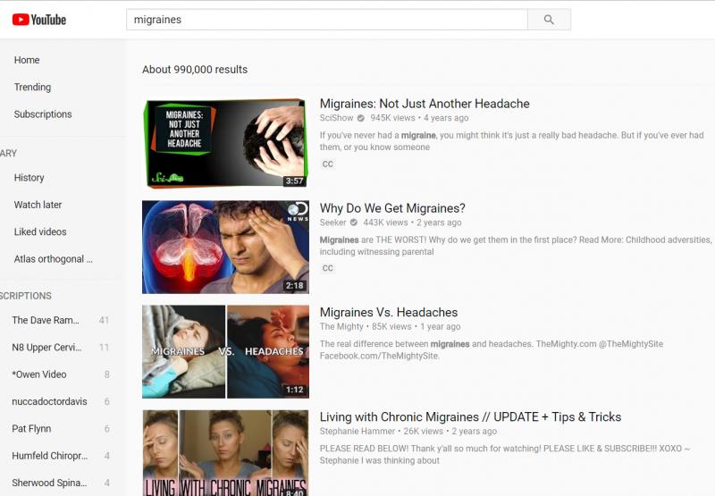 youtube video-migraines