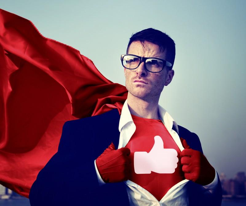 Like Share Facebook Hero